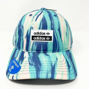 Adidas Mens Hat Relaxed Wave Spellout Logo Blue